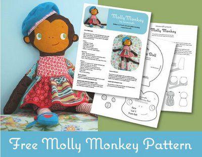free monkey sewing pattern!