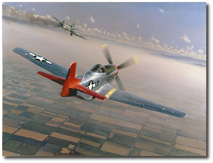 AVIATION ART HANGAR - Two Down, One to Go by William S. Phillips (