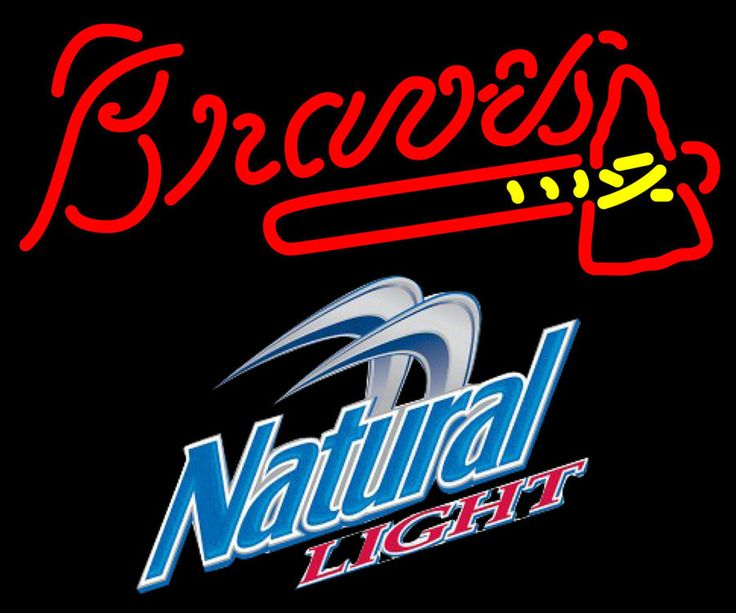 Natural Light Atlanta Braves MLB Neon Sign 3 0014 24x20, Natural Light with MLB Neon Signs | Beer with Sports Signs. Makes a great gift. High impact, eye catching, real glass tube neon sign. In stock. Ships in 5 days or less. Brand New Indoor Neon Sign. Neon Tube thickness is 9MM. All Neon Signs have 1 year warranty and 0% breakage guarantee.