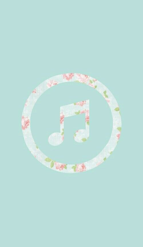 «music, flowers, and wallpaper»