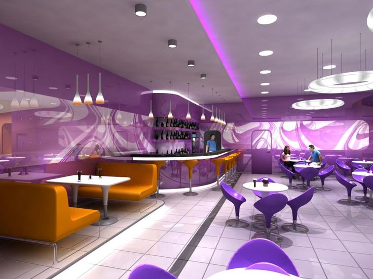 http://taizh.com/wp-content/uploads/2014/11/Wonderful-led-lighting-cafe-interior-design-with-violet-painting-wall-deifferent-and-chair-plus-white-round-table-on-white-tile-flooralso-orange-leather-sofa-beside-wall.jpg