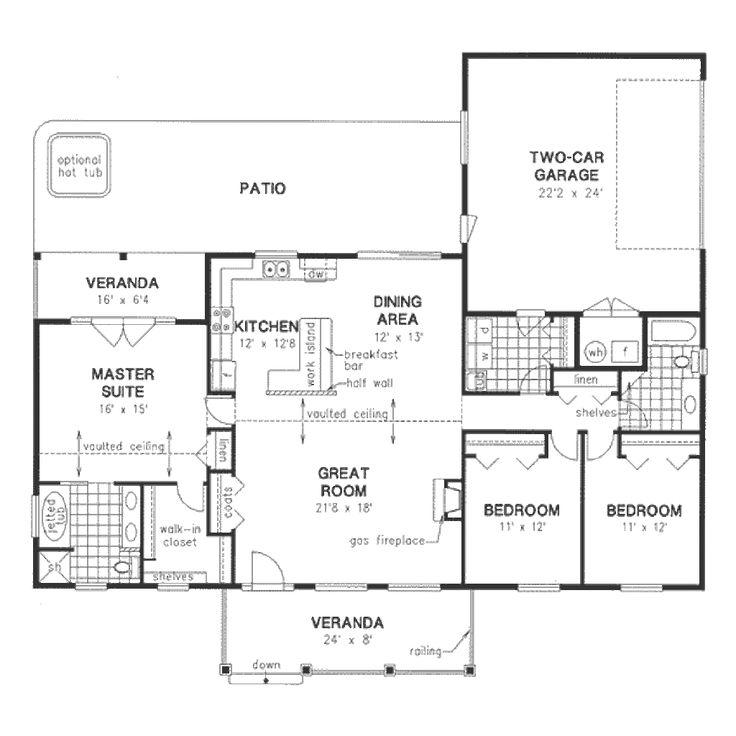 Ranch Main Floor Plan Plan 18 4512 House