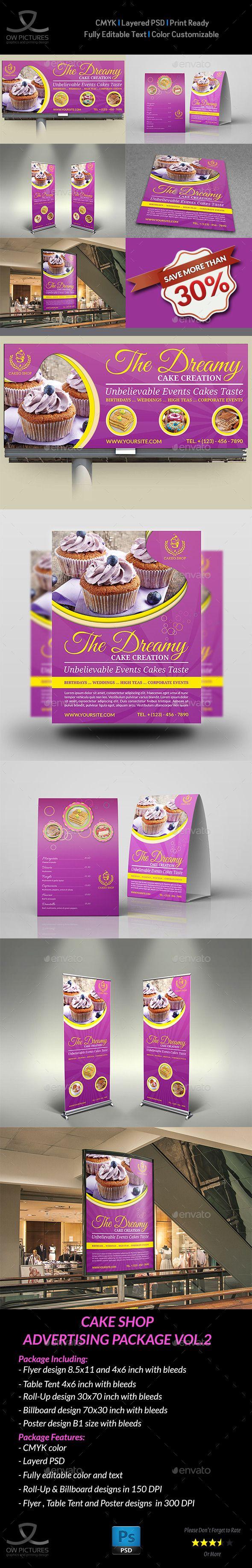 8 5x11 poster design - Cake Shop Advertising Bundle Vol 2