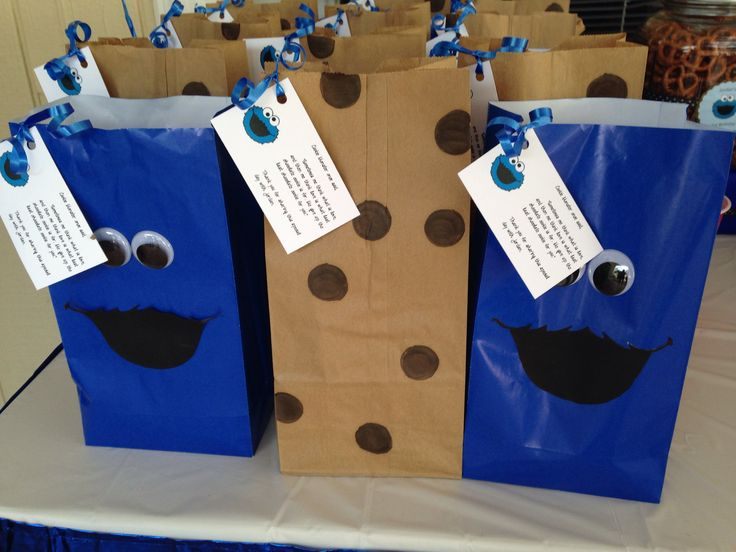 Cookie Monster Gift Bags