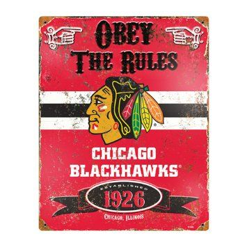 Party Animal Heavy Duty Steel Chicago Blackhawks Embossed Metal Sign Wall  Art Is Ultimate Decor For Any Fan Cave, Home Pub, Bedroom Or Office Wall.