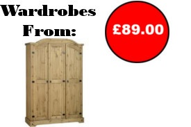 Wide Selection of Wardrobes from Only £89.00