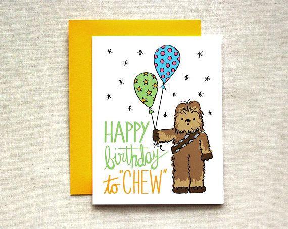 Chewbacca Birthday Card Star Wars Birthday Card Happy Etsy In 2021 Funny Birthday Cards Star Wars Diy Star Wars Cards