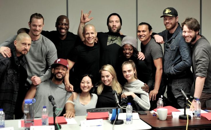 """Director David Ayer tweeted the first cast photo of """"Suicide Squad"""" on Wednesday. The star-studded group, which includes Will Smith, Margot Robbie, Viola Davis, Joel Kinnaman and Jai Courtney, sat down for a table reading before the film starts shooting next week. Jared Leto, who plays the Joker in the highly anticipated movie, was not... Read more »"""