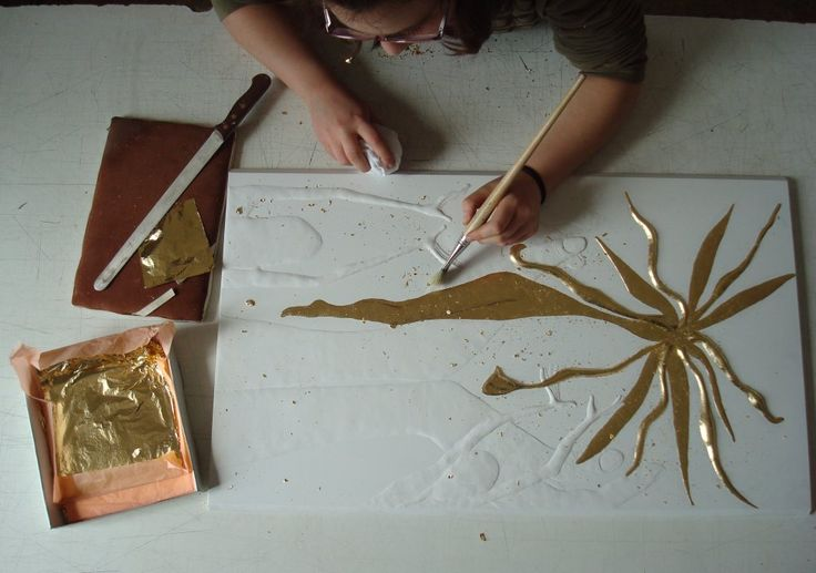 plaster art and sgraffito