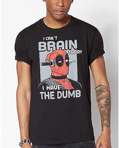 c739fba9 I Can't Brain Today Deadpool T Shirt - Marvel - Spencer's | Deadpool ...