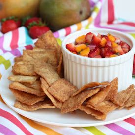 Strawberry Mango Salsa - serve with cinnamon pita chips for a sweet ...