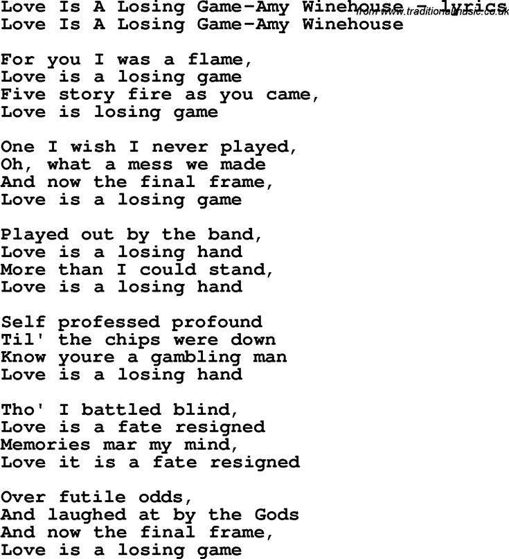 AMY WINEHOUSE - OCTOBER SONG LYRICS