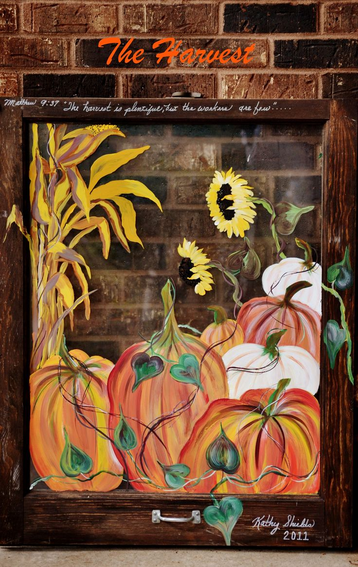 Hand Painted Old Country Window By Kathy Shields