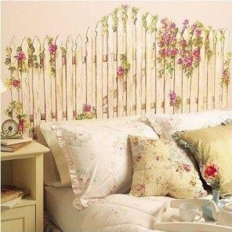 Yatak başlığı olarak düşünülmüş bahçe çitleri süper