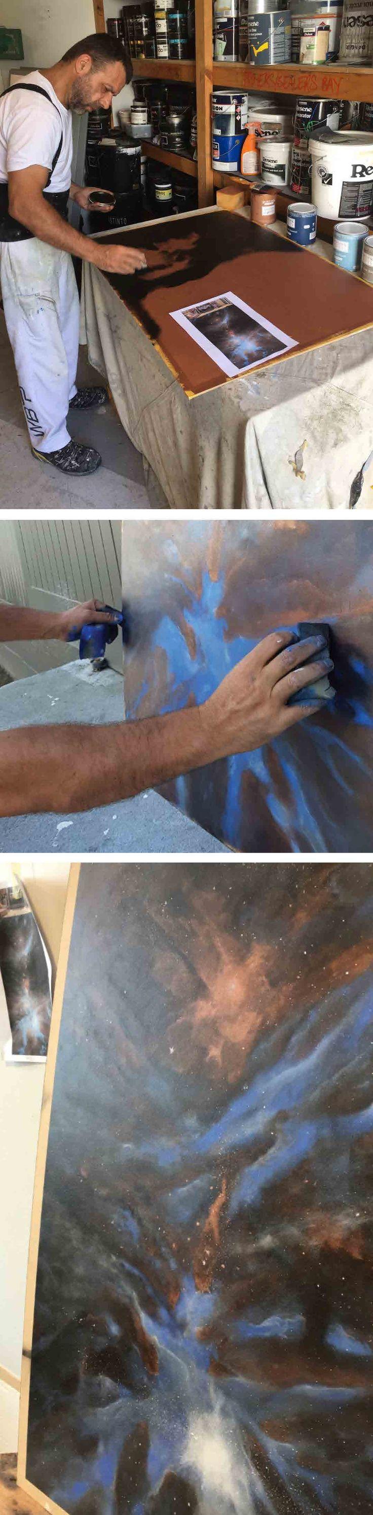 Our plaster coating range. Galaxy artwork. Replicating