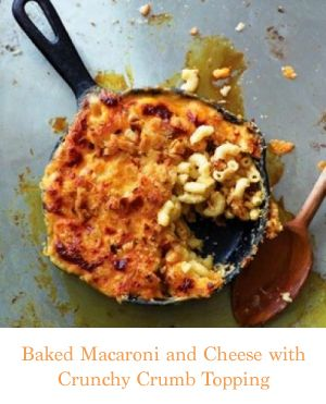 Baked Macaroni and Cheese with Crunchy Crumb Topping