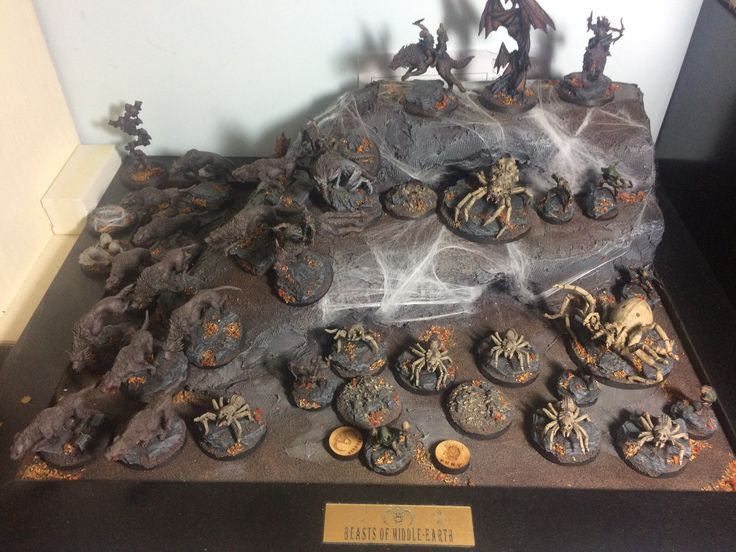 Beasts of moria featuring Shelob in non standard colours