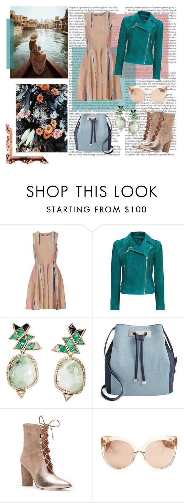 """""""October 23rd 2016"""" by rania ❤ liked on Polyvore featuring Paula Cademartori, ASOS, Issa, MANGO, Nak Armstrong, INC International Concepts, Sigerson Morrison and Linda Farrow"""
