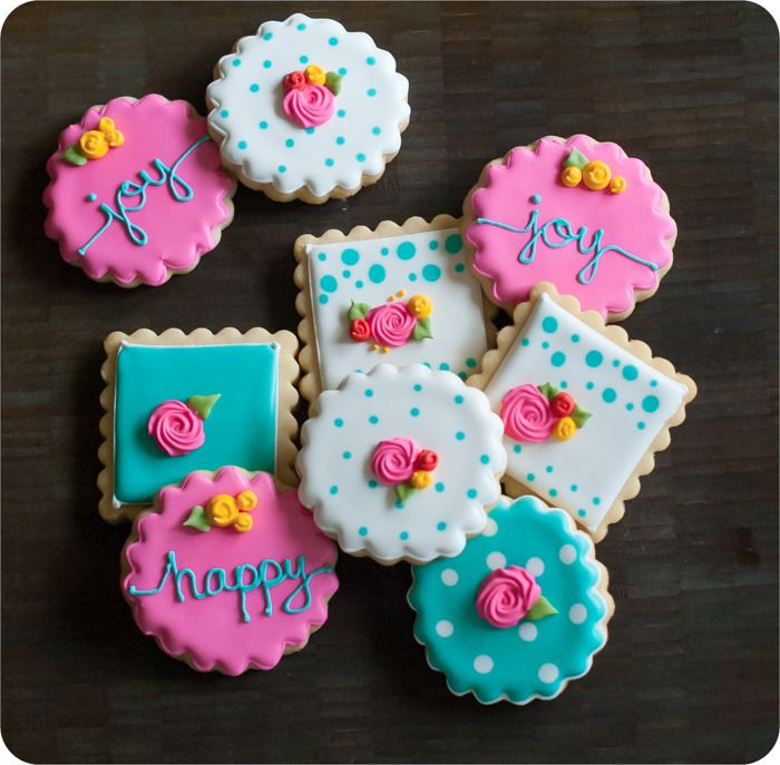 happy floral decorated cookies ... with how-to's and tips