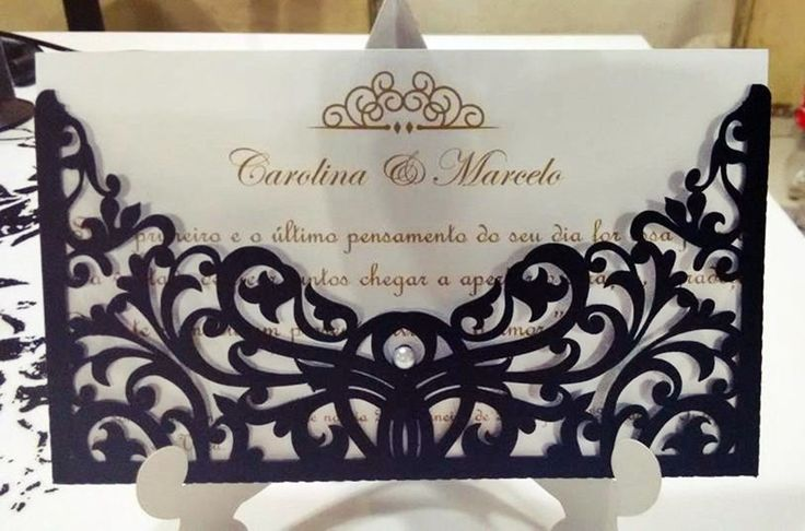 Convite de Casamento, feitos com papel 180gr, , acompanha nome do convidado e vão embalados em saco de celofane