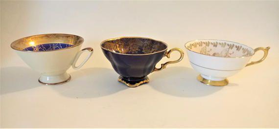 Antique Mismatched Cups Set Of 3 Cups Paragon Rheinpfalz