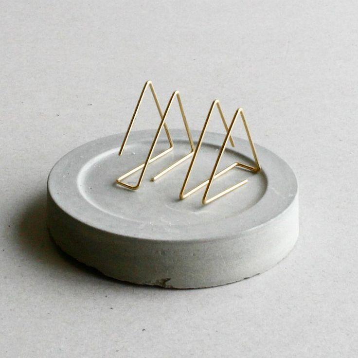 Minimalist Pyramid Earrings