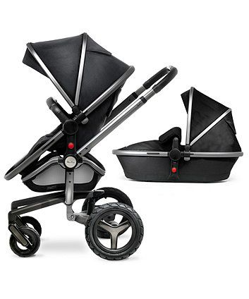 Silver Cross Surf 2 Complete Pram and Pushchair - Black & Graphite