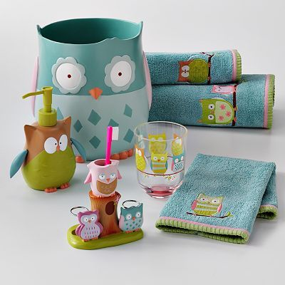 Jumping Beans Owl Friends Bath Accessories For Kids