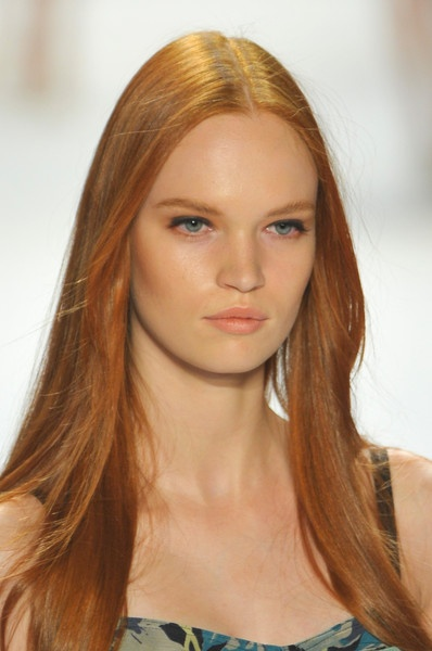 sleek & smooth hair at Charlotte Ronson