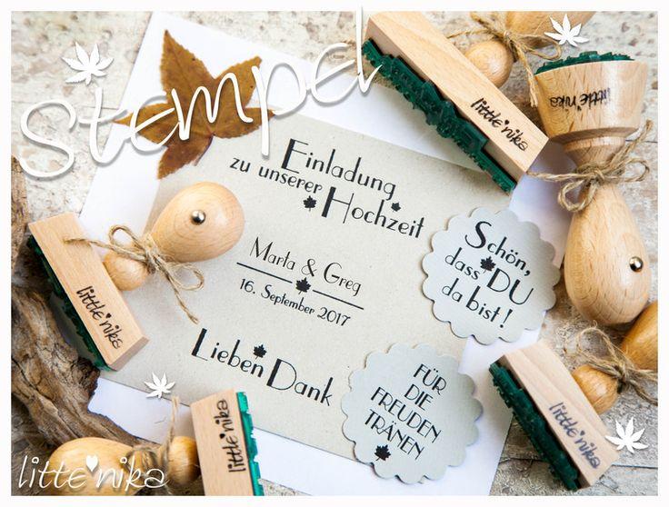 Einladungskarten   Stempel Hochzeit SET *Herbst*   Ein Designerstück Vonu2026