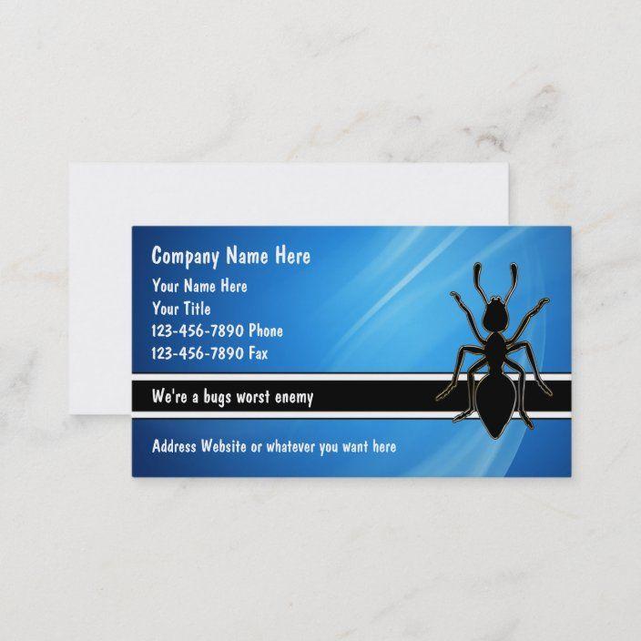 Pest Control Business Cards Zazzle Com Business Cards Pest Control Cards