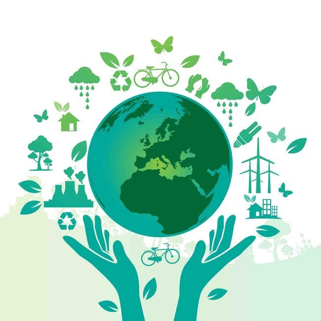 Public Environmental Green Hands Saving The World To Save