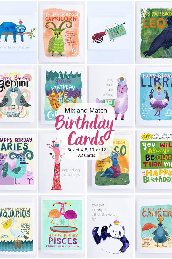 Mix And Match Birthday Cards Pack Birthday Card Assortment Etsy Birthday Cards Funny Birthday Cards Birthday Cards For Him