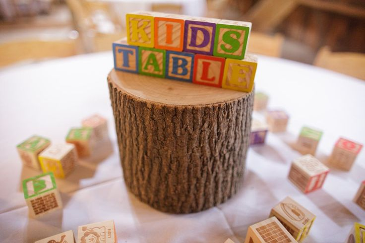 Kids Table Wedding Centerpiece