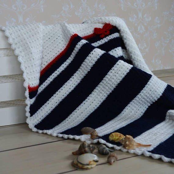 handmade crochet baby blanket sea shell blanket baby shower