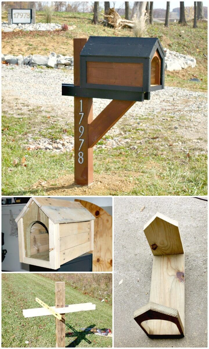 Awesome Diy Mailbox Plans Diycraftsguru In 2021 Diy Mailbox Wooden Mailbox Cool Mailboxes