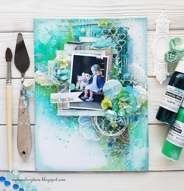 "Handmade by Nadya Drozdova: Холст ""Trust.Hope.Love"" или ПД в блоге Words&Paintery"