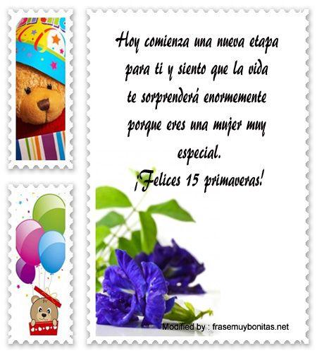 enviar frases para quinceañera por Whatsapp,frases para quinceañera para facebook:  http://www.frasesmuybonitas.net/mensajes-de-quinceanera-para-facebook/