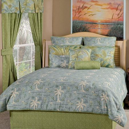 Island Song Surf Bedding Set In Soothing Blue And Green
