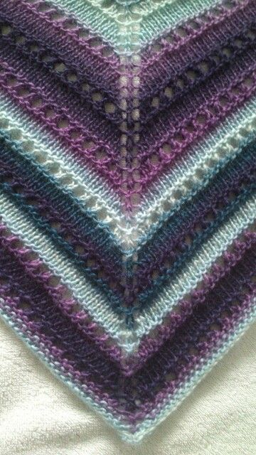 Beautiful lacy shawl pattern from Simply Knitting magazine