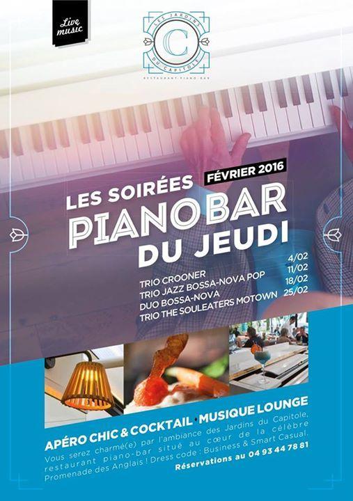 News J-1avant notre première soirée Piano Bar de Février ! ==========================...  J-1avant notre première soirée Piano Bar de Février ! ==================================================== Le Trio Crooner aux Jardins du C... http://showbizlikes.com/j-1avant-notre-premiere-soiree-piano-bar-de-fevrier/