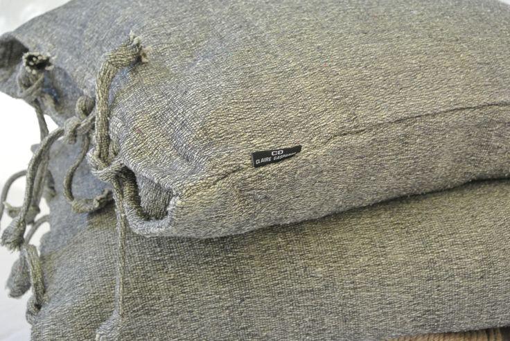 """Handwoven cotton/linen cushion """"berbère"""""""