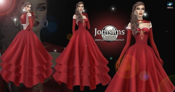 Miss Christmas dress at Jomsims Creations • Sims 4 Updates