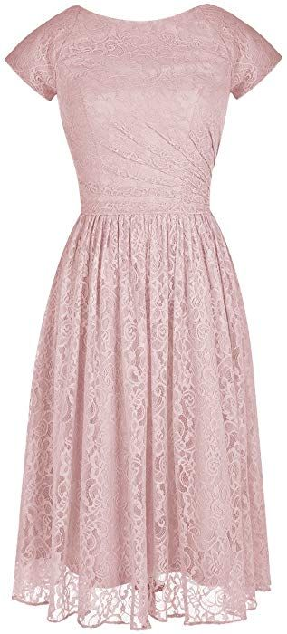 72e5c33e7fa Tideclothes ALAGIRLS Modern Short Bridesmaid Dress Lace Prom Evening Dress  Cap Sleeves Burgundy US2 at Amazon Women s Clothing store