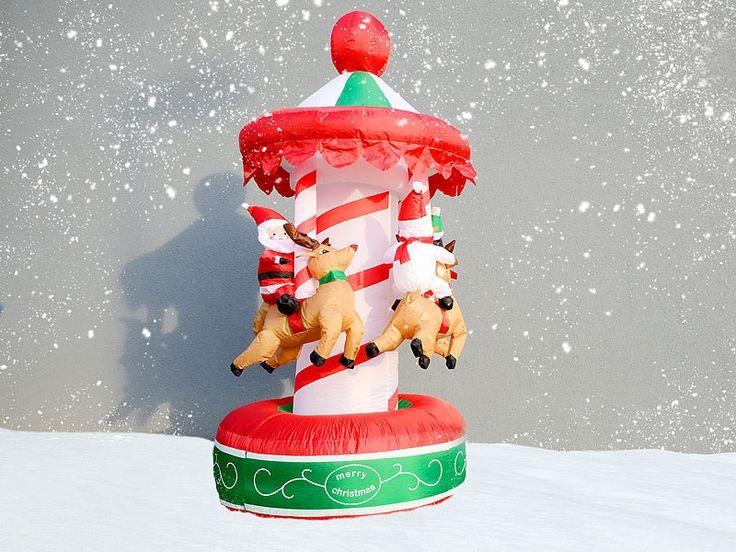 infactory Selbstaufblasendes Weihnachtskarussell infactory Selbstaufblasende Karussells