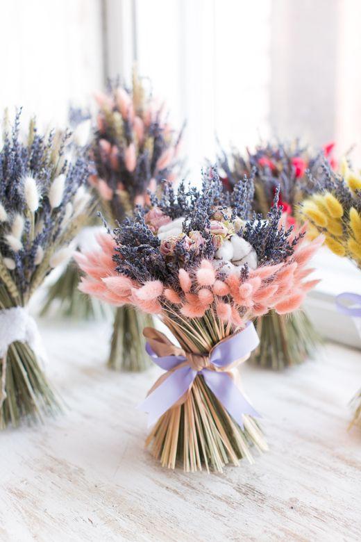 Букеты с сухоцветами