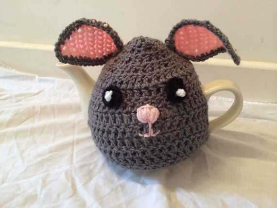Animal Tea cosy crochet for a medium or door SpecialHandmade482
