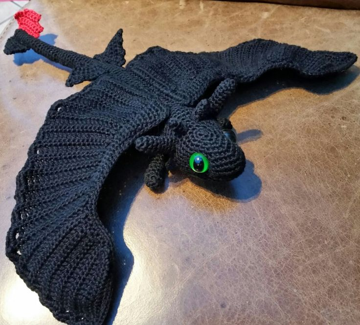 toothless dragon made for George