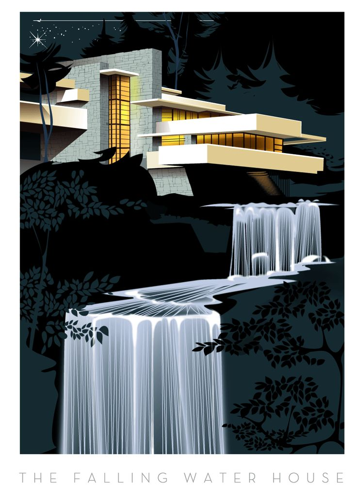 "Cascades""Falling Watter House""arch.Frank Lloyd Wright- Un classique de l'architecture moderne-Richard Zielenkiewicz"
