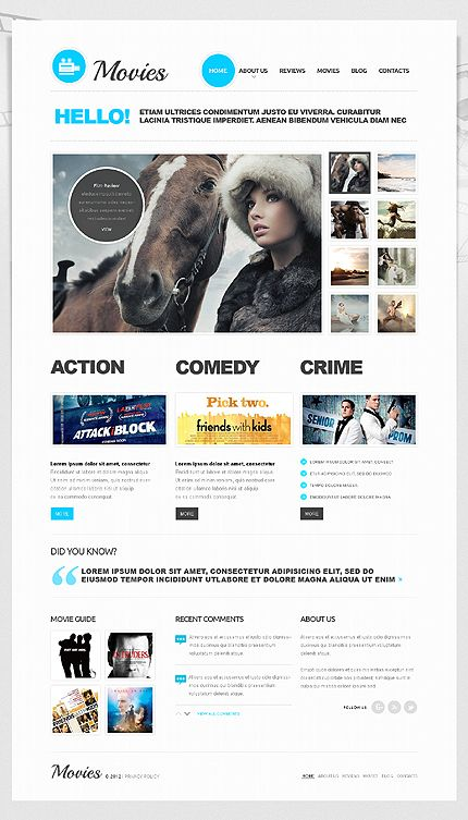 Movies Content Joomla Templates by Sawyer